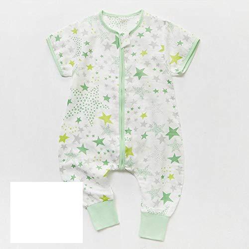 B/H Mantas de Bebes Recien Nacidos de niña,Saco de Dormir para bebé de Verano con piernas, Ropa de hogar de algodón, Gasa-G_90cm