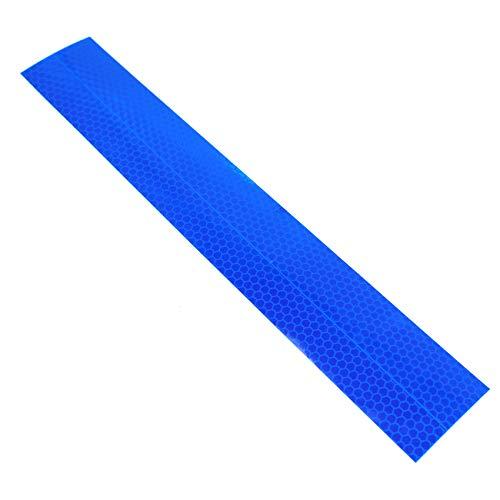 Wildwarnfolie Reflektorfolie Reflektorband Wabenmuster Blau Markierung Klebeband Warnmarkierung Warnung Selbstklebend Schutz Sicherheit (5x30 cm)