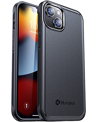 Humixx Shockproof Designed for iPhone 13 Case [Military Grade Drop Tested] [Anti-Scratch] Hard Back with Non-Slip Soft Bumper Heavy Duty...