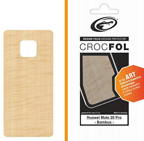 Crocfol Art - Protector de Pantalla para Huawei Mate 20 Pro (Aspecto de bambú)