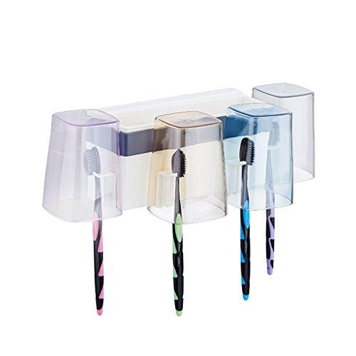 Mode-Regal XXGI Drei Familie Von Vier Wand Zahnpasta Zahnbürstenhalter Saugwand Rack Saugnapf Bad Pinsel Tasse Set Zahnbürste Becherhalter (20 * 14 * 10 Cm)