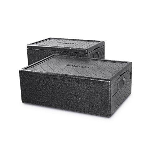 HENDI Thermobox, mit seitlich versenkten Griffen, Hält Temperaturen von -20°C bis +110°C stand, Innen: 538x338x(H)257mm, 46L, 600x400x(H)320mm, Polypropylen