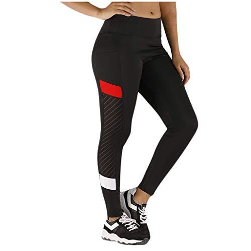 Dames Yoga Broek Mesh Patchwork Strakke Leggings Gym Broek, Elastische Oefening Fitness Running Broek met Pocket