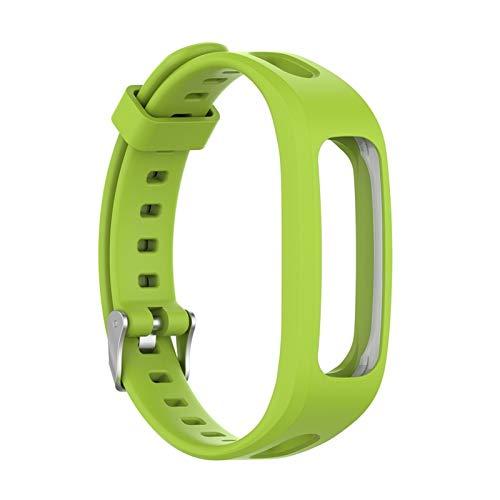 YGGFA Correa de silicona deportiva ajustable para Huawei Band 4e 3e Honor Band 4 Running Correa de repuesto para reloj pulsera suave (color de la correa: verde)