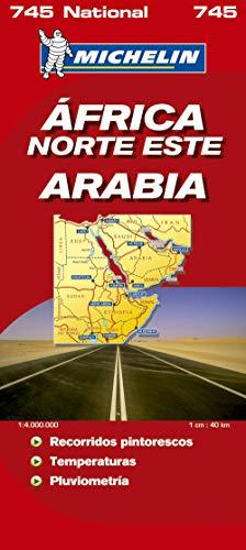 Mapa National Africa Norte-Este, Arabia: Actualizado    Práctico    Fiable    Escala detallada