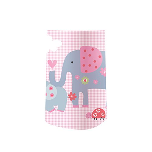 Angelcare Dress Up Rock Becken Deco Deursticker Olifant Norme rosanes Vichy-Karo