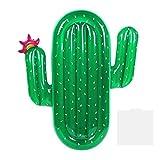 Cactus Piscina Inflable Flotante Fila, Gigante Natación al aire libre Inflable Cojín flotante Cama PlayaFlotante Fila PiscinaTumbonas Silla Piscina Fiesta Balsa para adultos Niños