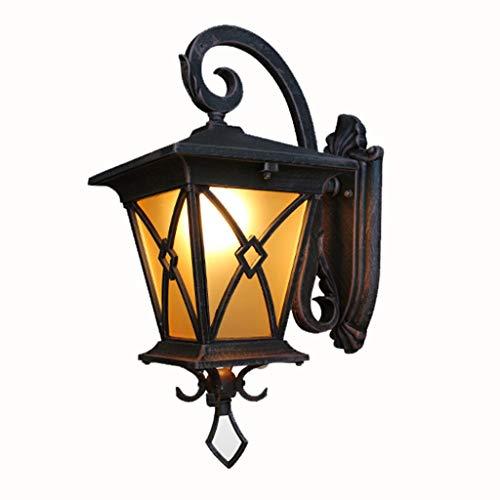 B-D wandlamp, antieke look, waterbestendig, voor buiten, allee, terras, schuifdeur, buiten