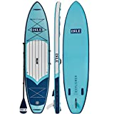 "ISLE Explorer | Inflatable Stand Up Paddle Board | 6"" Thick iSUP and Bundle Accessory Pack 