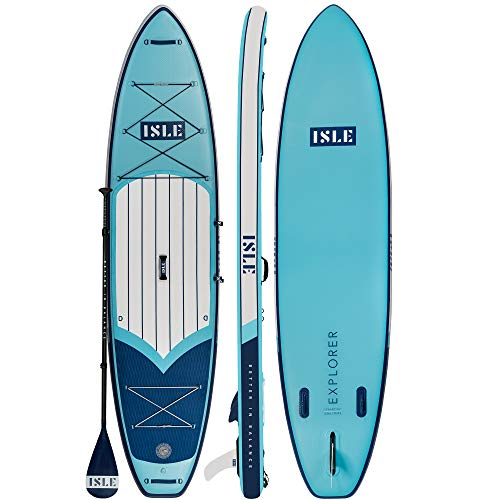 "ISLE Explorer | Inflatable Stand Up Paddle Board | 6"" Thick iSUP and..."