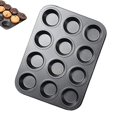 Molde Para Muffins De 12 Tazas,Molde Para Muffins Para Pasteles,Material De Acero...