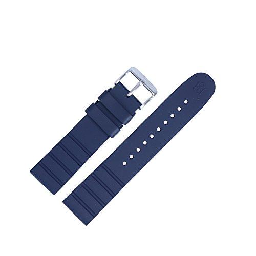 Victorinox Uhrenarmband 21mm Kunststoff Blau - Uhrband Set 005108
