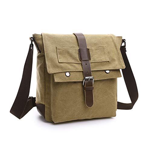 Wind Took Herren Umhängetaschen Schultertasche Vintage Messenger Bag Kleine Sling Tasche Kuriertasche Damen für Schule Uni Freizeit Job, 24×9.5×26cm