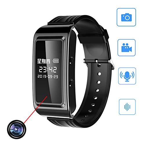 Profesional Voyeur Cámara Espía HD Smart Bracelet,con Audio Y Video El Spy Camera,para Conferencias De Negocios Reloj Deportivo Cámara Grabadora Sí Prevenir Crimen Grabación Evidencia Negro 64 GB