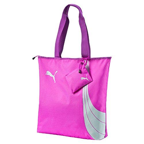 Puma Fundamentals Shopper Bag, Borsa shopping, Fucsia/Grigio (Purple Cactus Flower)
