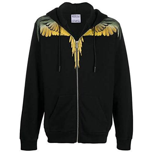 MARCELO BURLON Luxury Fashion Uomo CMBE001F20FLE0011016 Nero Cotone Felpa   Autunno-Inverno 20