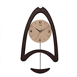 Wall Clock,Mute Solid Wood Glass Modern Wall Table Metal Clock,Wall-Mounted Stereoscopic Swing Household Pocket Watch Antirust/B / 380x705mm
