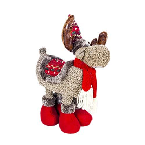 Holibanna Reno de Peluche muñeca de Peluche Adornos navideños de Navidad