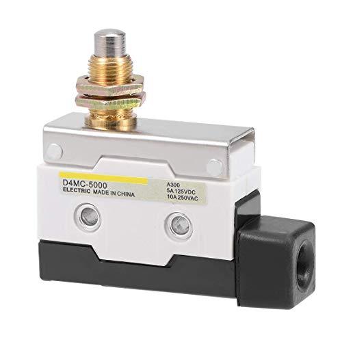 YeVhear D4MC-5000 - Embujador de rodillo microinterruptor de final de carrera, montaje en panel momentáneo 1NC + 1NO 7310 para interruptor de puerta de impresora 3D de molinillo CNC