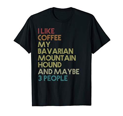 Bayerischer Gebirgsschweißhund Hund Kaffee Geschenk Retro T-Shirt