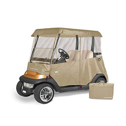 Greenline Drivable Golf Cart Enclosures by Eevelle, Heavy Duty 300D 2 Passenger