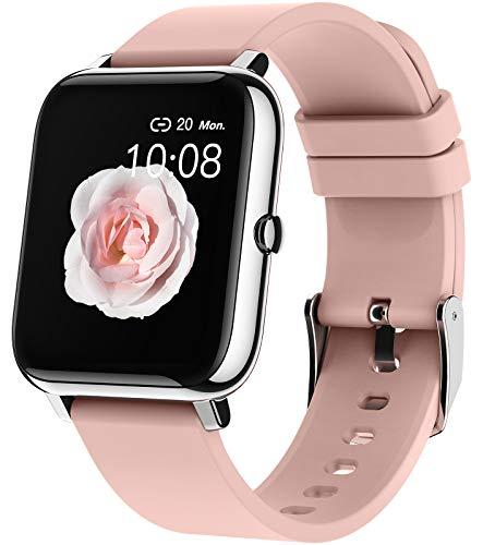 EIGIIS Reloj Inteligente, Pulsera Actividad Inteligente con Monitor de Frecuencia Cardíaca, Monitor de Sueño, Podómetro, Reloj Deportivo para Hombres y Mujeres