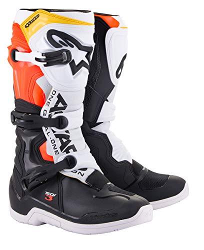 Alpinestars Unisex-Erwachsene Tech 3 Stiefel, Schwarz/Weiß/Rot/Fluo Gelb, Größe 05 (Mehrfarbig, Einheitsgröße)