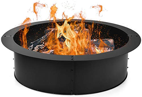 HAPPYGRILL Fire Pit Ring Outdoor Firepit Rim Liner 30-Inch...