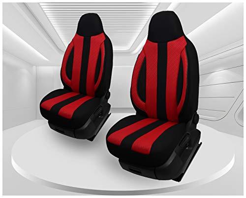 Fundas de asiento compatibles con Audi A8 4E conductor y pasajero a partir de 2002 – 2010, número de color: MD502.