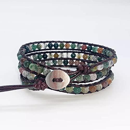 WLLLTY Ladies Bracelet Women's Three Layer Wrap Bracelet Multilayer Bead Bracelet Jewelry Women Fashion Bracelet Gift