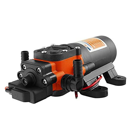 wenhu Meerwasserpumpenmembran Selbst-Priming-Pumpenboot-Zubehör-Duschen Toiletten Wassertransfer Motor für RV Caravan,12V