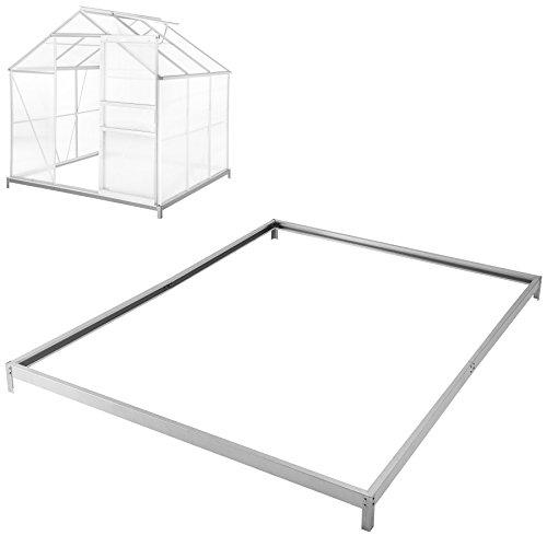 TecTake Fundament für Gewächshaus aus verzinkten Stahl 190x190x12 cm