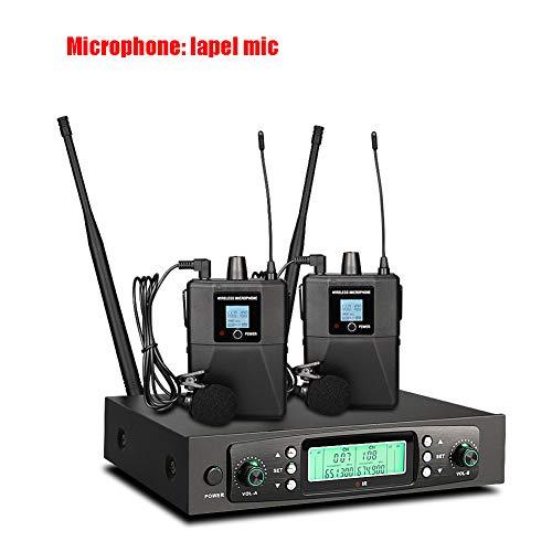 ZSHXF Wireless Funkmikrofon UHF Professionelles dynamisches drahtloses Dual Mikrofon, Handmikrofonsystem, Heim-KTV-Set für Karaoke, Party, DJ, Kirche, Hochzeit, Meeting, Unterricht,B