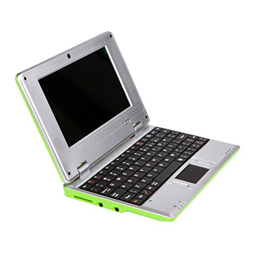 """Macoku 7"""" Mini Notebook Laptop Netbook Android 4.4 VIA 8880 Cortex-A9 1.2GHz 4GB Storage with Wifi HDMI SD Card USB Tablet PC Come with USB Mouse and Sleeve Bag - Green"""