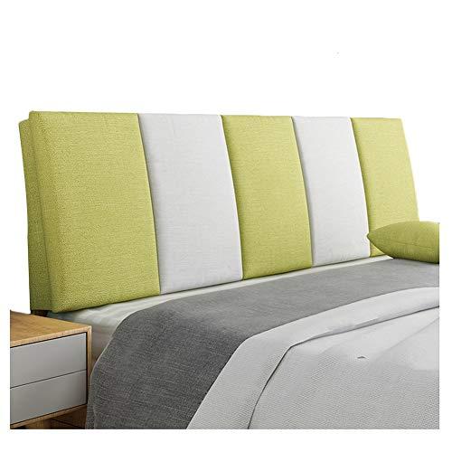WENZHE Cabecera Cabecero De La Cama Tapizado Sofá Cama Lino Respaldo Multifuncional Estuche Blando Casa Habitación Almohadilla De Cintura Lavable, 5 Colores (Color : B, Tamaño : 200x55cm)