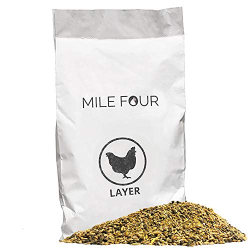 Certified Organic 16% Protein Layer Chicken Feed, Corn & Soy Meal Free, Non-GMO Whole Grain, Formulated to Optimize Health, 46 Pound Bag
