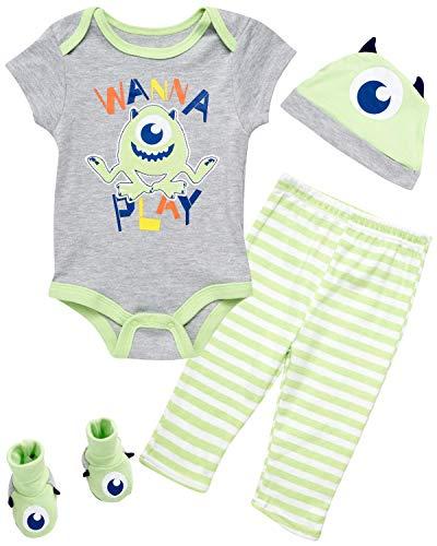 Conjunto de 4 piezas de mono y pantalones para bebé recién nacido, diseño de Mickey y Toy Story - - 3-6 meses