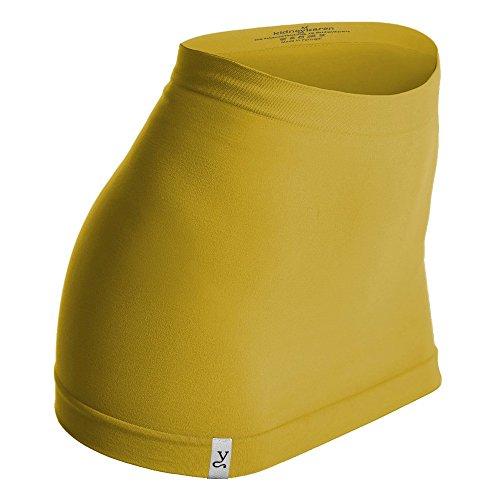 Kidneykaren Nierenwärmer Basic- Tube Multifunktion Yogagurt Fitness & Freizeit Nugget Gold (gelb), Größe:M