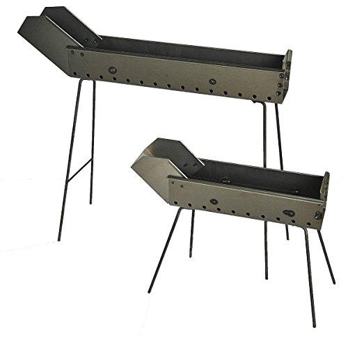Grill Spießchen, Garform aus Eisen 100cm mit klappbaren Füßen und Schnabel Hergestellt in Abruzzen