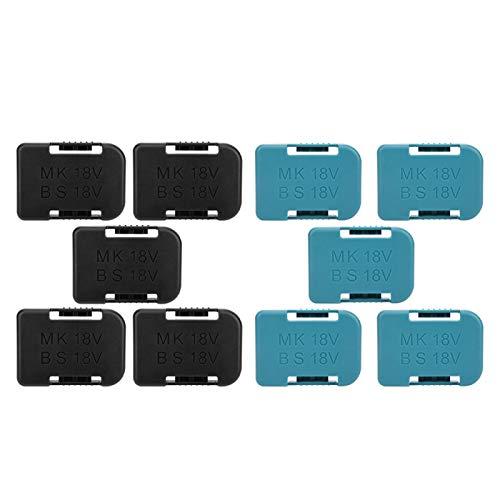 zhoul Lithium-Batterie-Lagerregal, 5-teiliges Lithium-Batterie-Lagerregal Regalhalterung Gürtelschlitz für Makita 18V-Befestigungsgeräte(Schwarz)