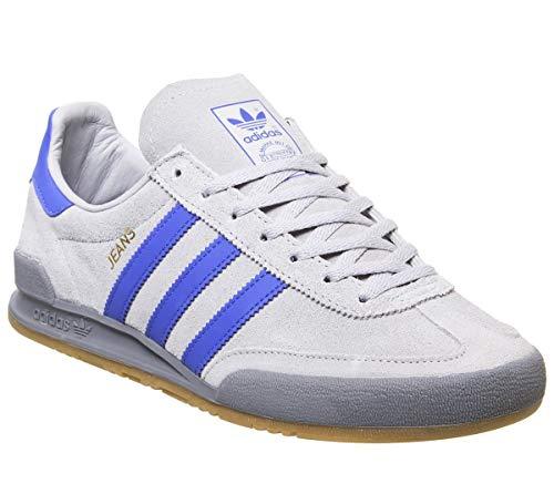 adidas Wildledertrainer mit Gummisohle und Schnürverschluss für Herren 8 UK Grau Zwei Hi Res Blau Grau