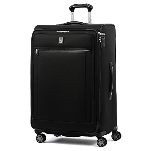 Travelpro Platinum Elite-Softside Expandable Spinner Wheel Luggage, Shadow Black, Checked-Large 29-Inch