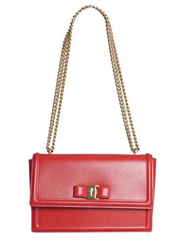 Salvatore Ferragamo Luxury Fashion Donna 674280 Rosso Borsa A Spalla | Stagione Permanente