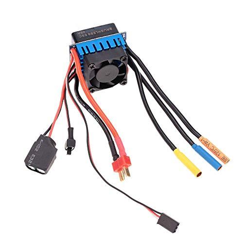 LIZONGFQ Controlador de Velocidad eléctrico ESC sin escobillas 45A con SBEC 5.8V / 3A para Coche RC 1/10