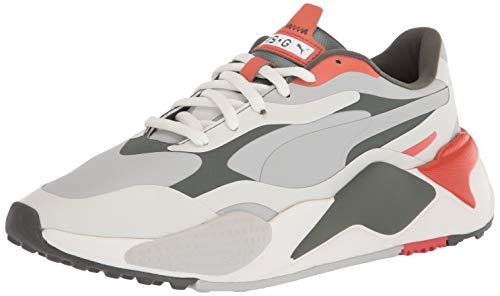 PUMA Mens Rs G Golf Shoe Vaporous Gray Thyme pureed Pumpkin 9 UK