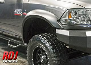 RDJ Trucks PRO-X-TEND Style Fender Flares - Fits Dodge Ram HD 2500/3500 2010-2018 - Set of 4 - Smooth Paintable OE Black Finish