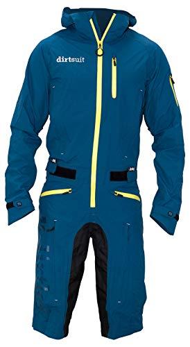 dirtlej dirtsuit Classic Edition Blue Green/Yellow/gelb der Dreckwetteranzug für alle Biker im Park, Homezone oder Trail 2020(L)