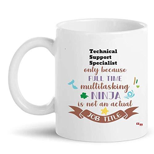 Not Applicable La Mejor Taza de especialista en Soporte técnico Taza de café de 11 oz - Regalo de especialista en Soporte técnico Regalos Personalizados para Hombres Camisetas de Mujer Tazas Tazas