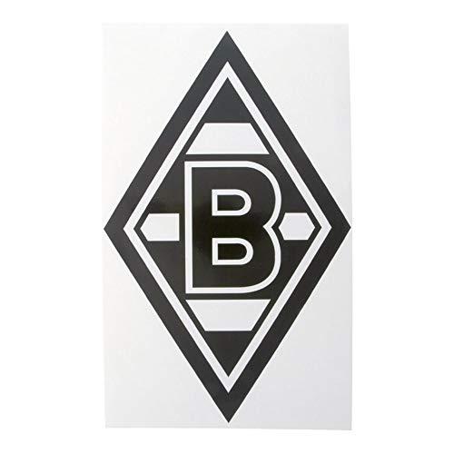 Borussia Mönchengladbach Edelaufkleber Raute schwarz 22x35 cm VFL