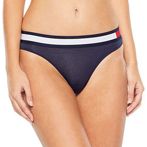 Tommy Hilfiger Damen Bikini Taillenslip, Blau (Navy Blazer 416), No Aplica (Herstellergröße: XS)